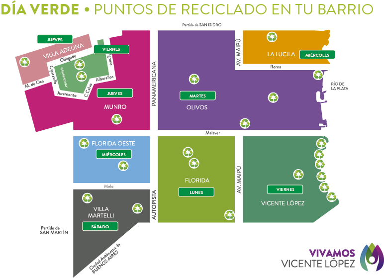 mapa verde